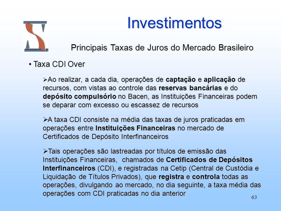 Investimentos Principais Taxas de Juros do Mercado Brasileiro