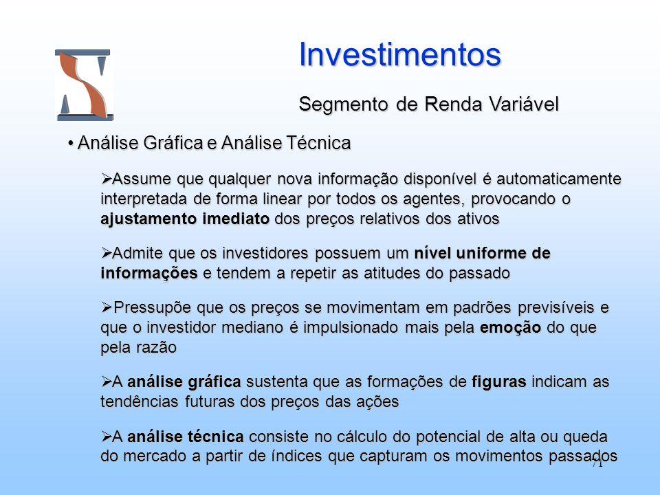 Investimentos Segmento de Renda Variável