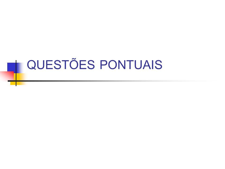 QUESTÕES PONTUAIS