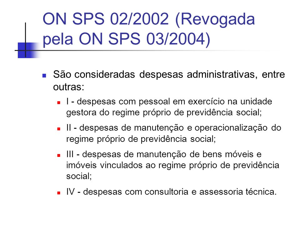 ON SPS 02/2002 (Revogada pela ON SPS 03/2004)