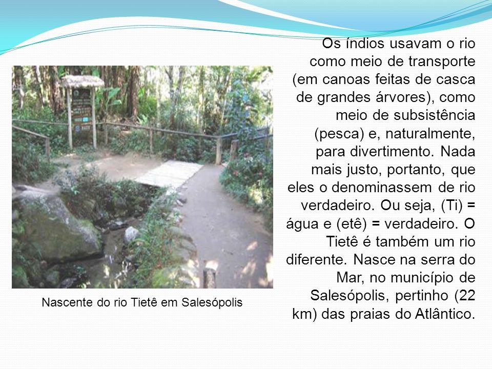 Nascente do rio Tietê em Salesópolis