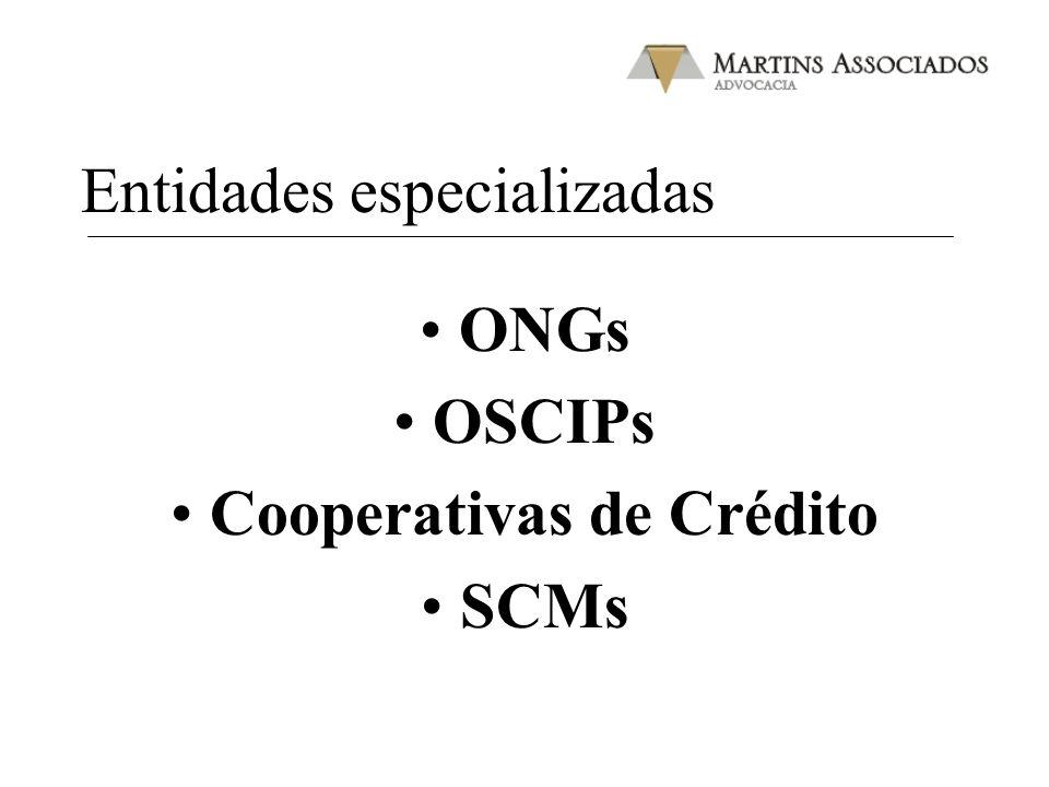 Entidades especializadas