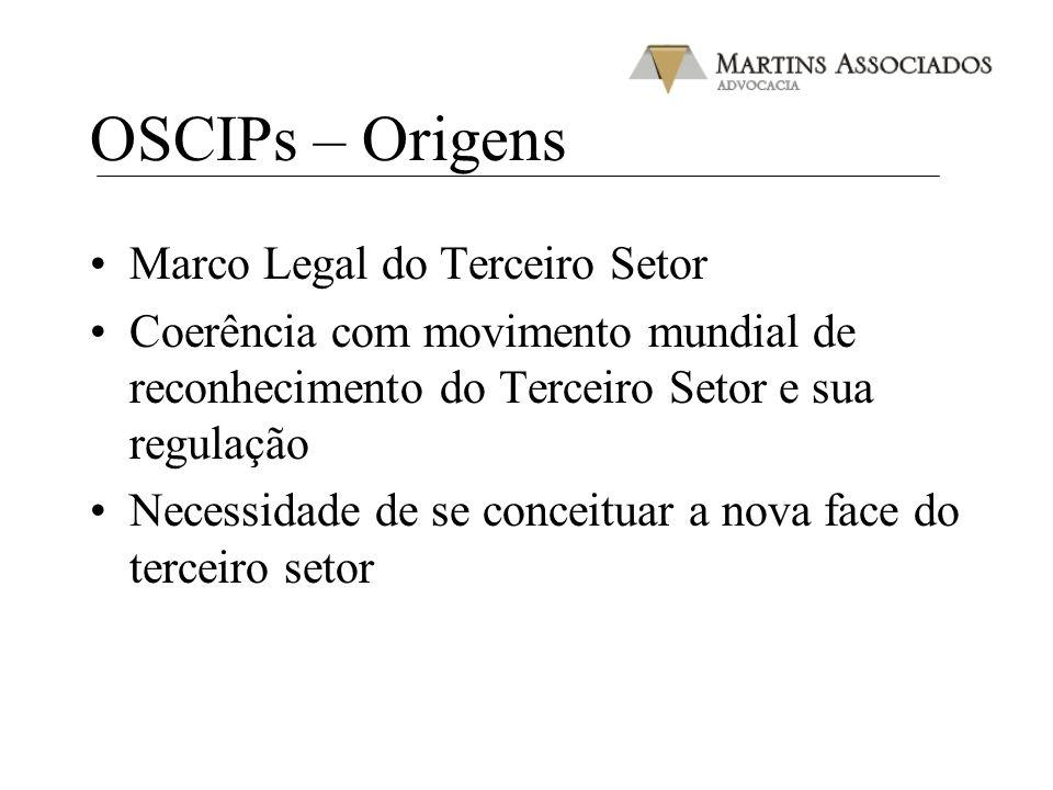 OSCIPs – Origens Marco Legal do Terceiro Setor