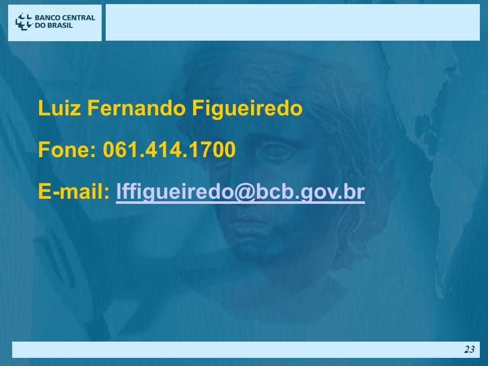 Luiz Fernando Figueiredo Fone: 061.414.1700