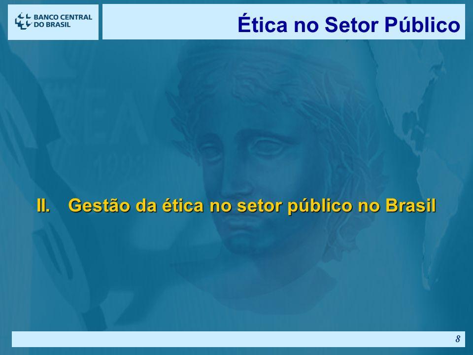 Ética no Setor Público II. Gestão da ética no setor público no Brasil