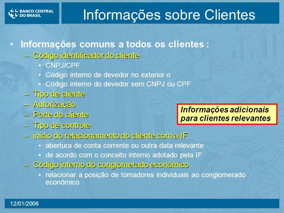 Informações sobre Clientes