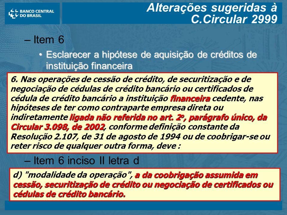 Alterações sugeridas à C.Circular 2999