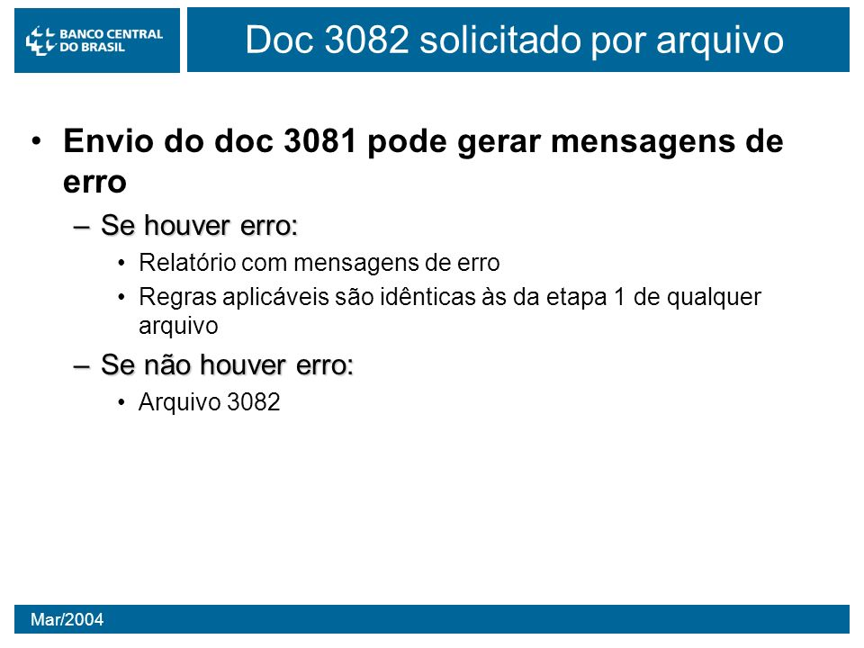 Doc 3082 solicitado por arquivo