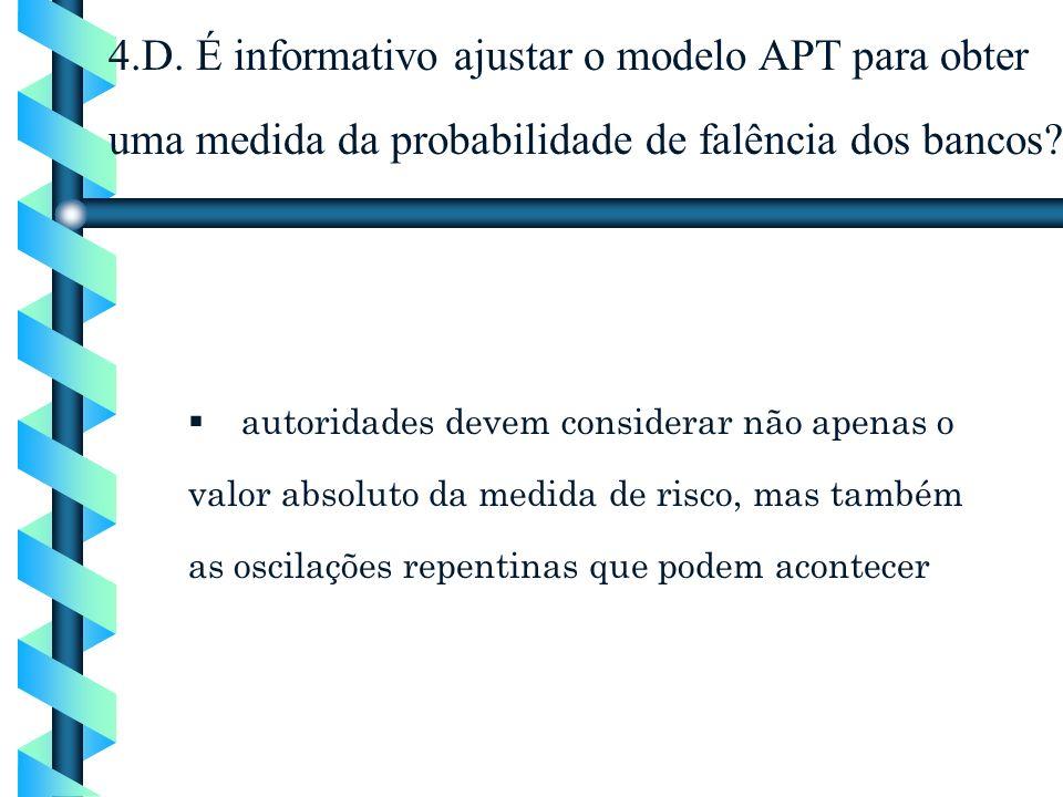 4.D. É informativo ajustar o modelo APT para obter