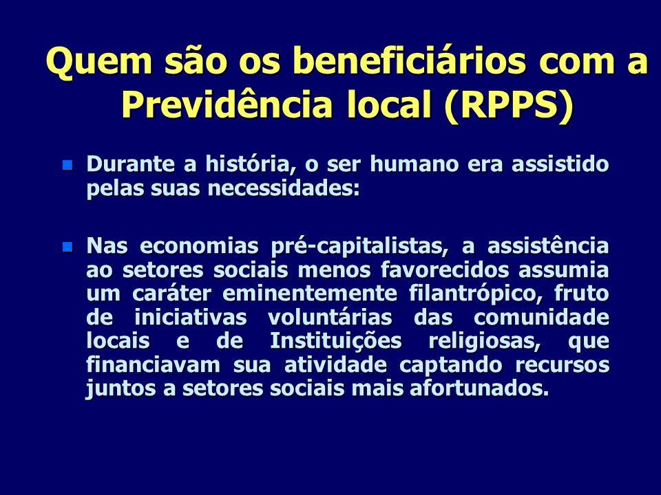 Quem são os beneficiários com a Previdência local (RPPS)