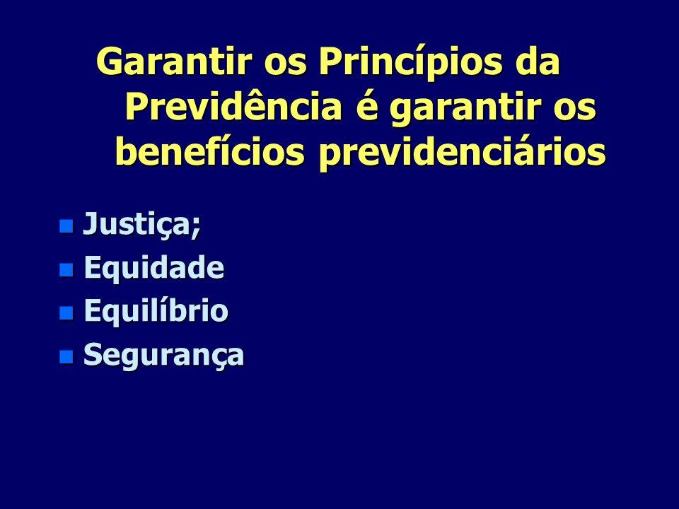 Garantir os Princípios da Previdência é garantir os benefícios previdenciários