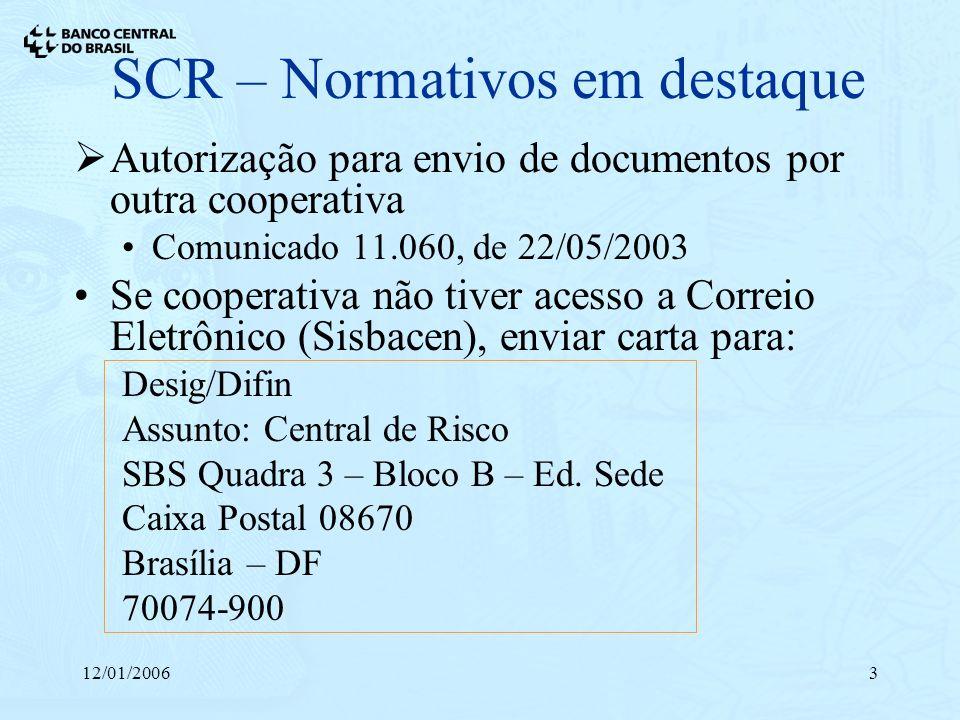 SCR – Normativos em destaque