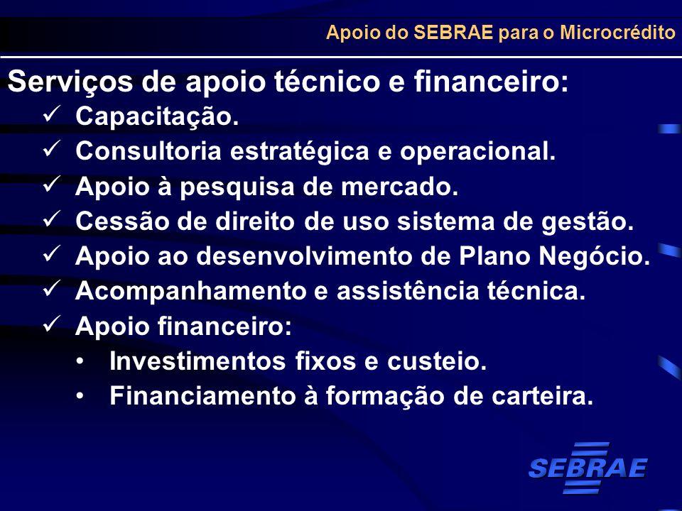 Apoio do SEBRAE para o Microcrédito