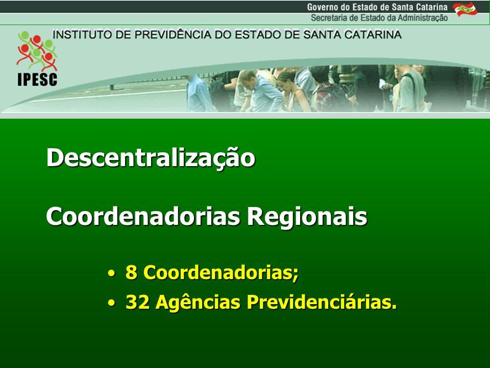 Descentralização Coordenadorias Regionais