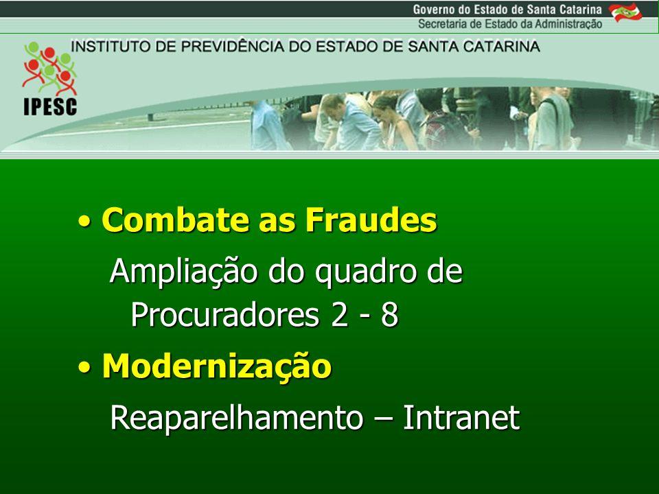 Combate as Fraudes Ampliação do quadro de Procuradores 2 - 8.