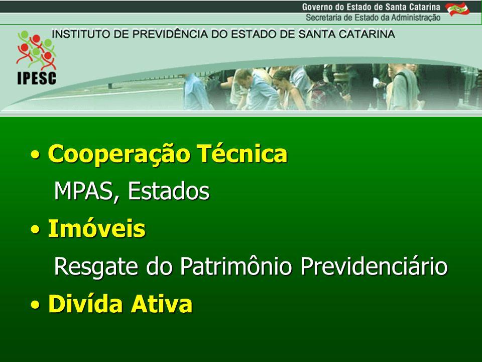 Cooperação Técnica MPAS, Estados Imóveis Resgate do Patrimônio Previdenciário Divída Ativa