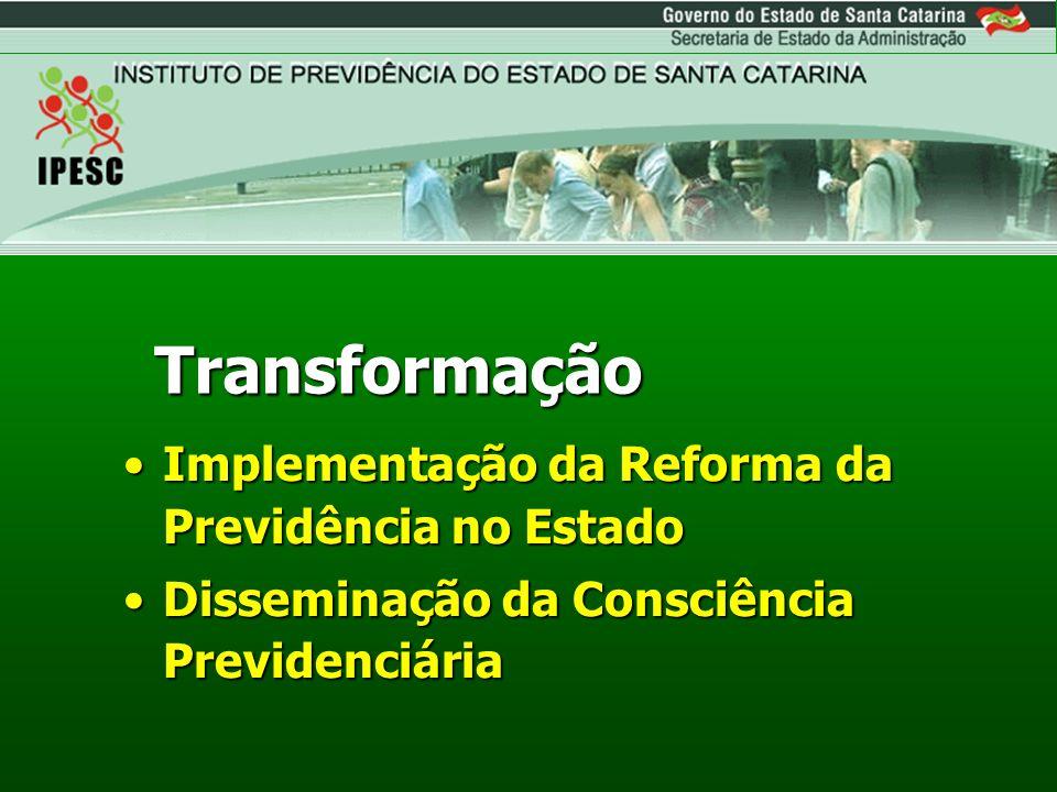 Transformação Implementação da Reforma da Previdência no Estado