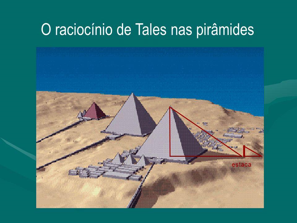 O raciocínio de Tales nas pirâmides