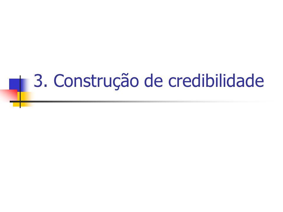 3. Construção de credibilidade