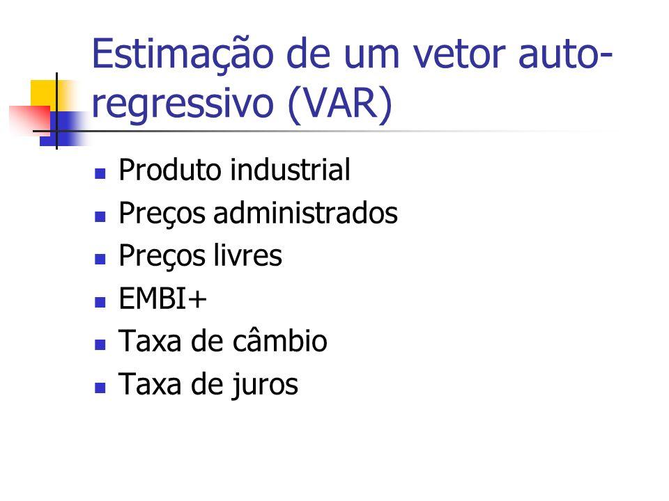 Estimação de um vetor auto-regressivo (VAR)