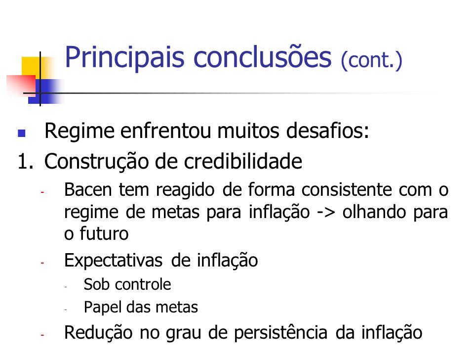 Principais conclusões (cont.)