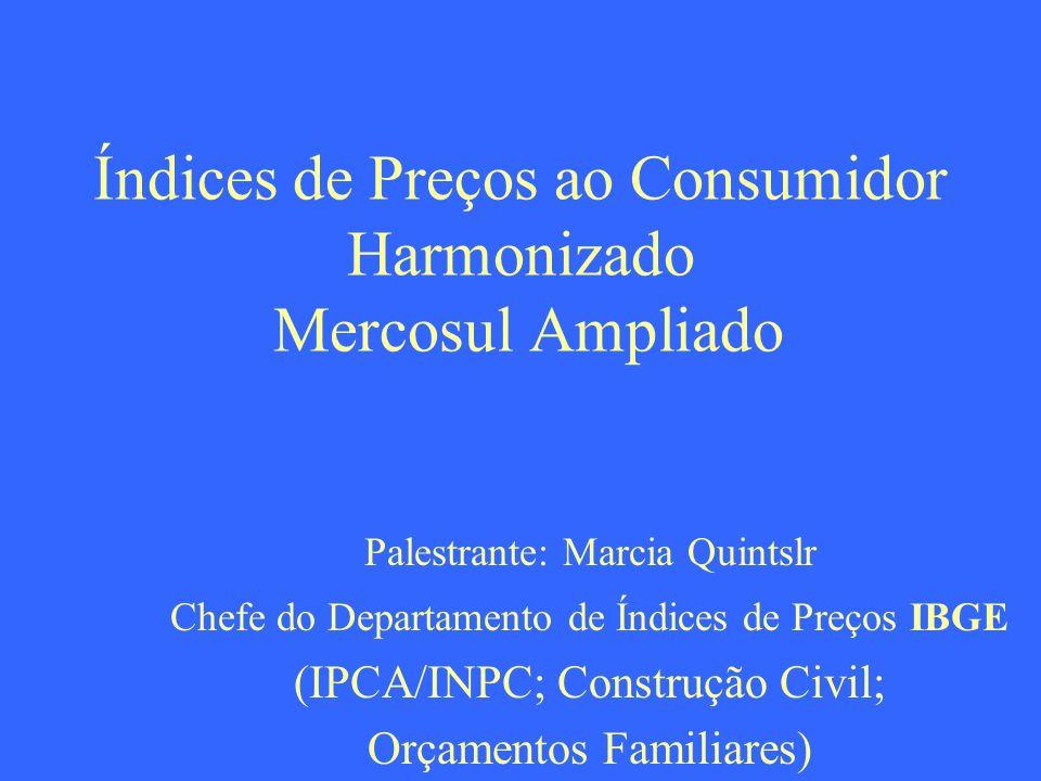 Índices de Preços ao Consumidor Harmonizado Mercosul Ampliado