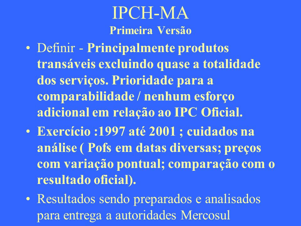 IPCH-MA Primeira Versão