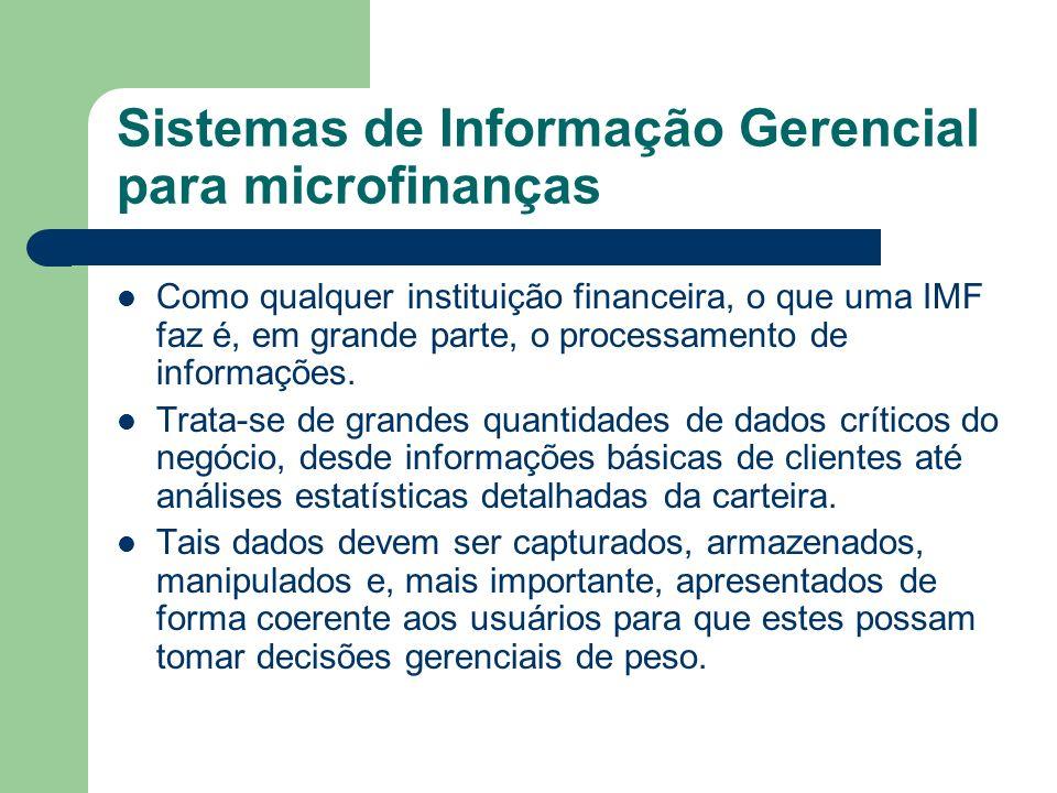 Sistemas de Informação Gerencial para microfinanças