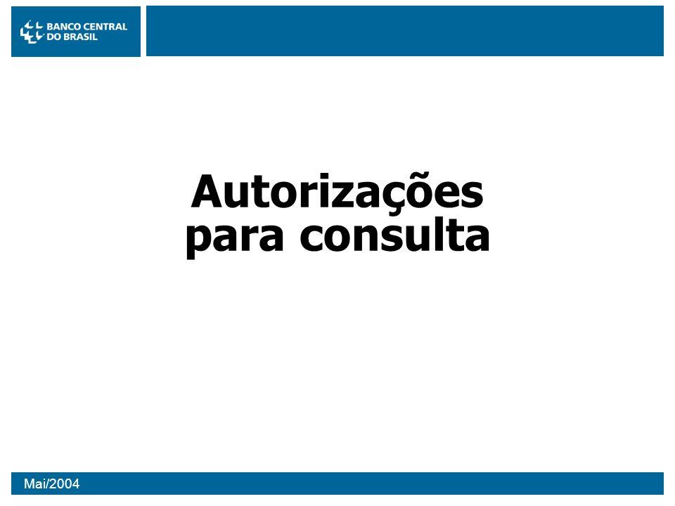 Autorizações para consulta