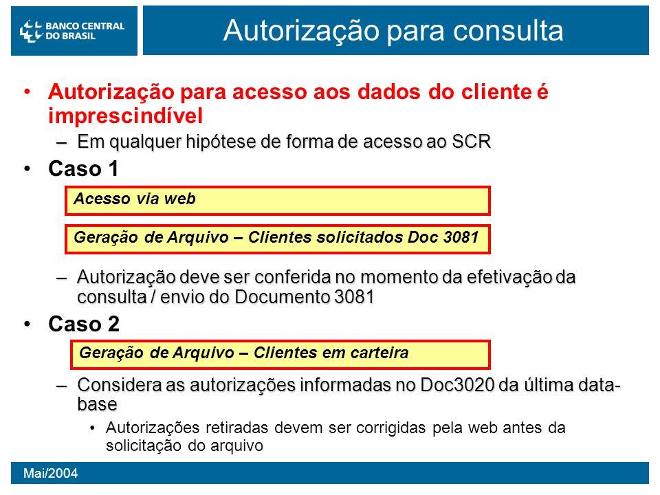 Autorização para consulta
