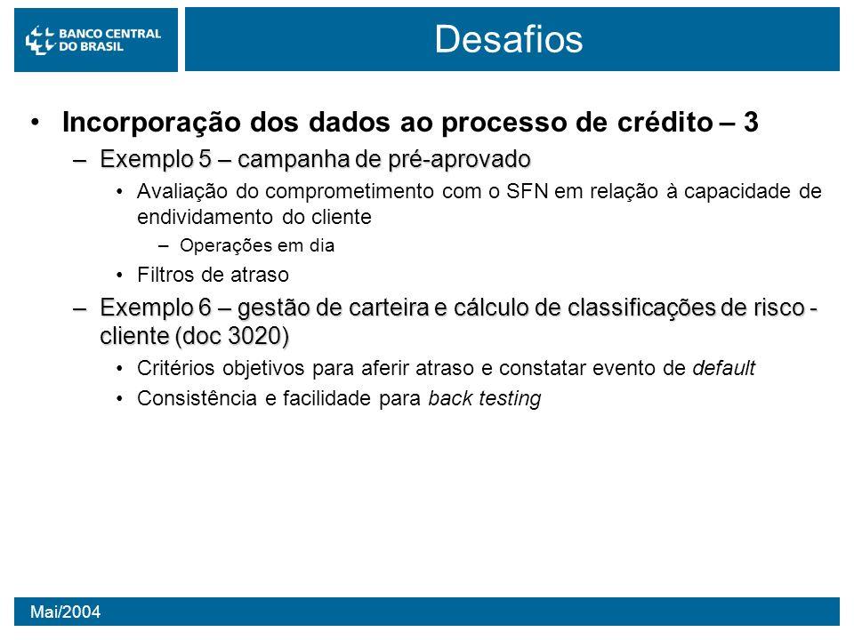 Desafios Incorporação dos dados ao processo de crédito – 3