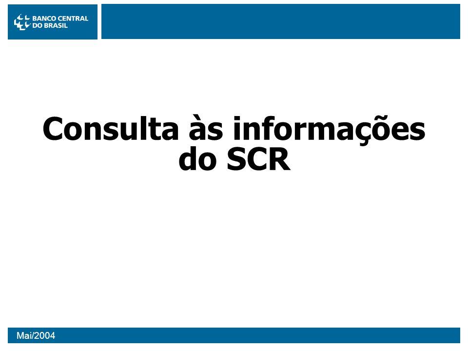 Consulta às informações do SCR