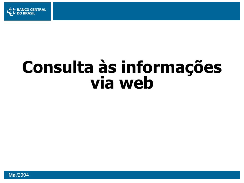 Consulta às informações via web