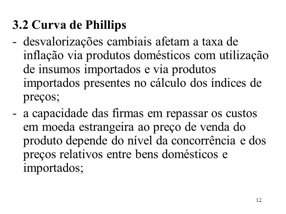 3.2 Curva de Phillips