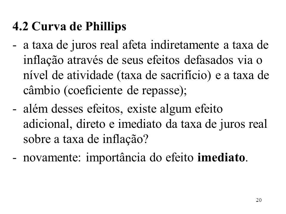 4.2 Curva de Phillips