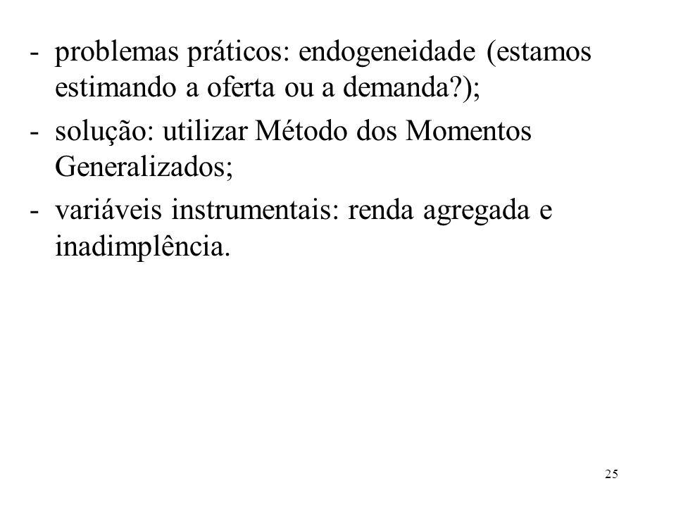 problemas práticos: endogeneidade (estamos estimando a oferta ou a demanda );