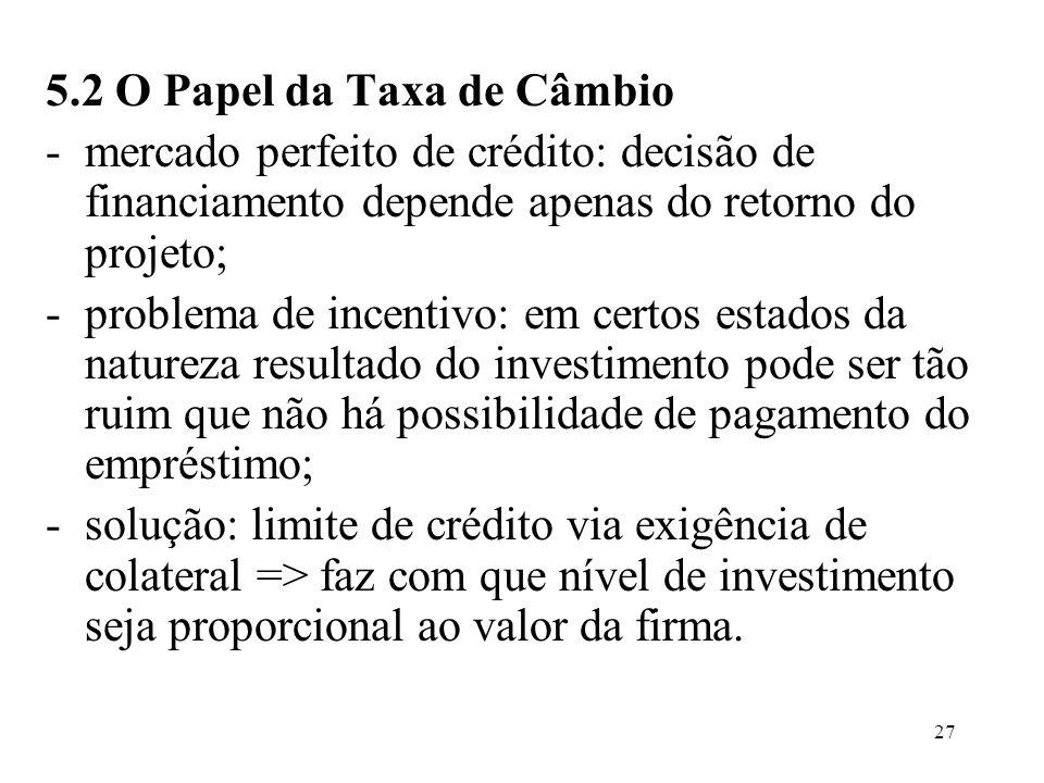 5.2 O Papel da Taxa de Câmbio