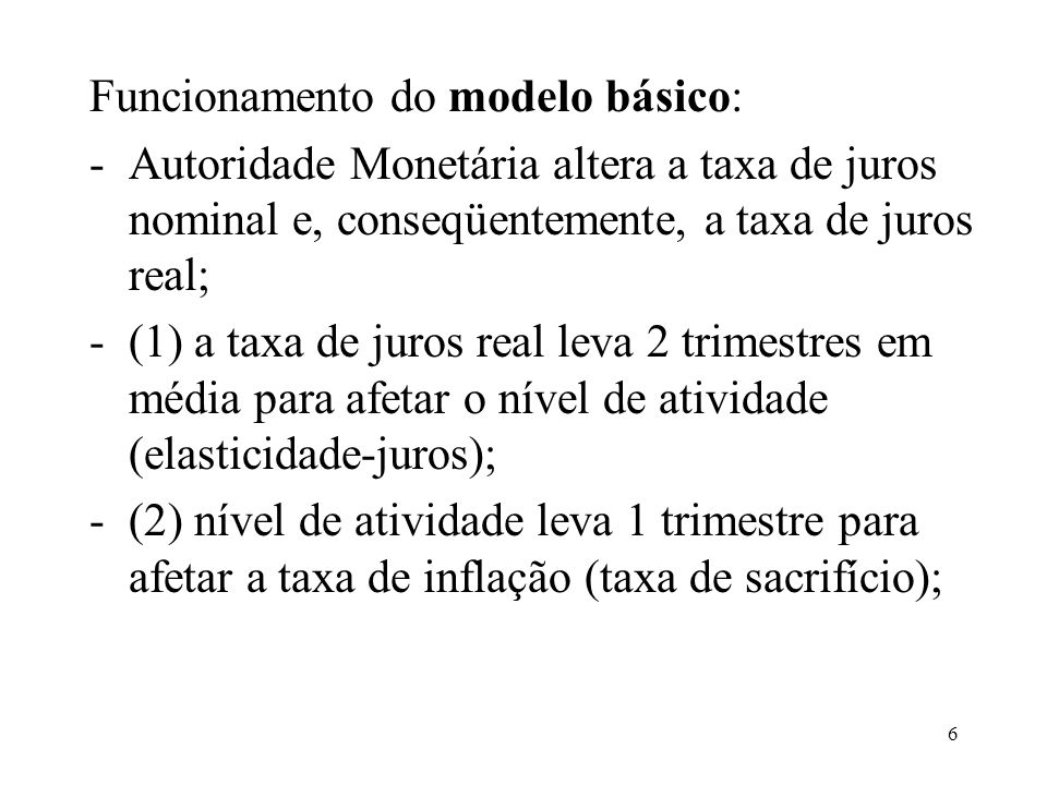 Funcionamento do modelo básico: