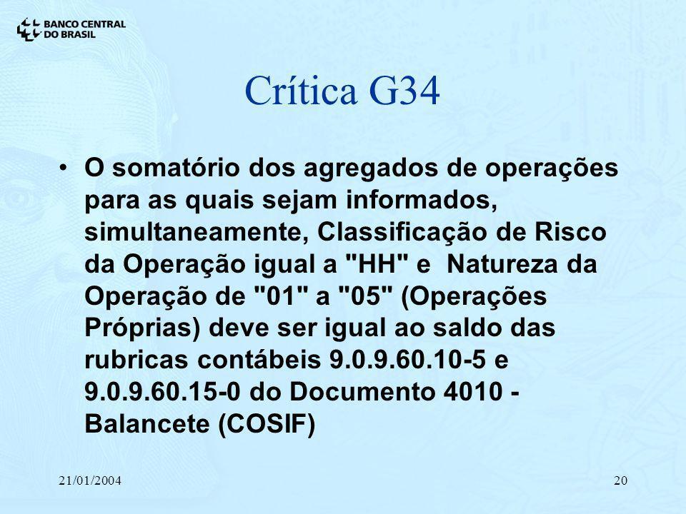 Crítica G34