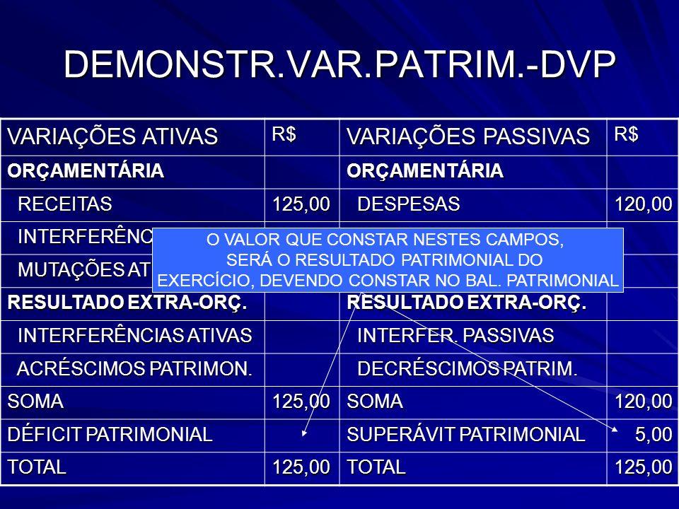 DEMONSTR.VAR.PATRIM.-DVP