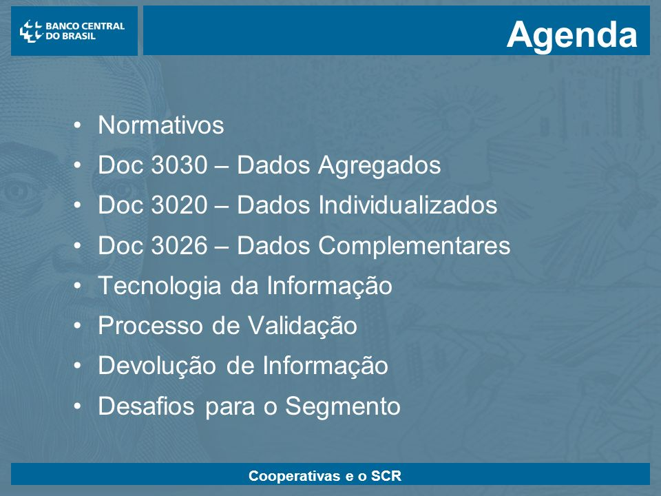 Agenda Normativos Doc 3030 – Dados Agregados