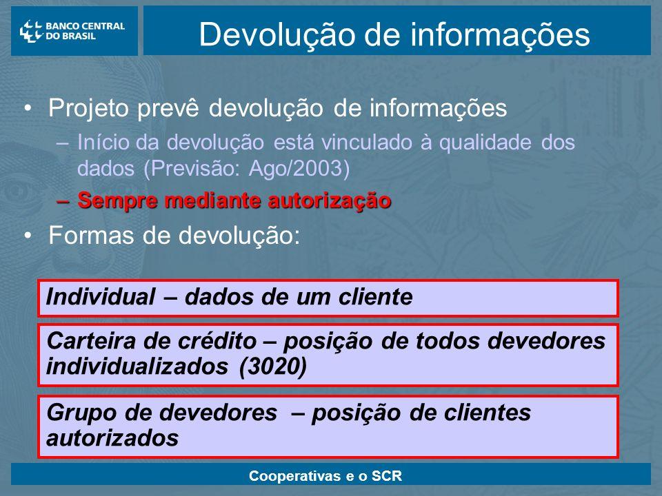 Devolução de informações