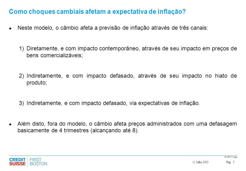 Como choques cambiais afetam a expectativa de inflação