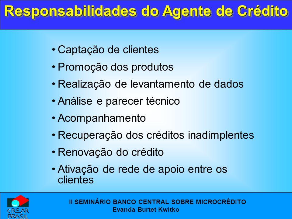 Responsabilidades do Agente de Crédito