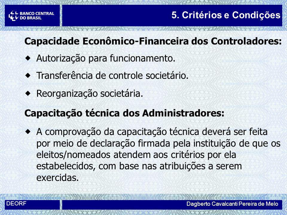 Capacidade Econômico-Financeira dos Controladores: