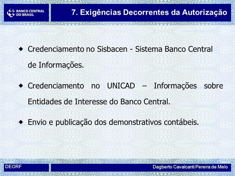 7. Exigências Decorrentes da Autorização