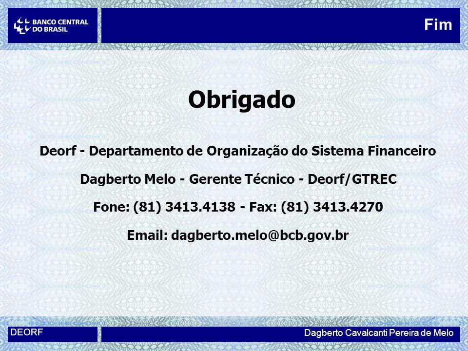 Obrigado Fim Deorf - Departamento de Organização do Sistema Financeiro