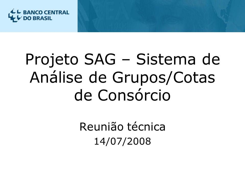 Projeto SAG – Sistema de Análise de Grupos/Cotas de Consórcio