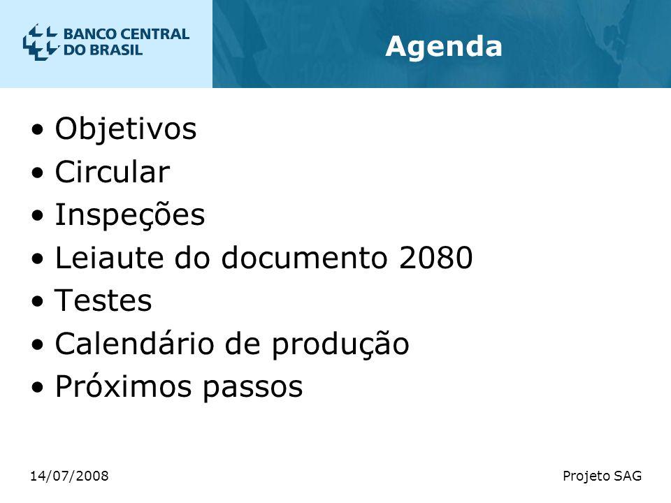 Calendário de produção Próximos passos