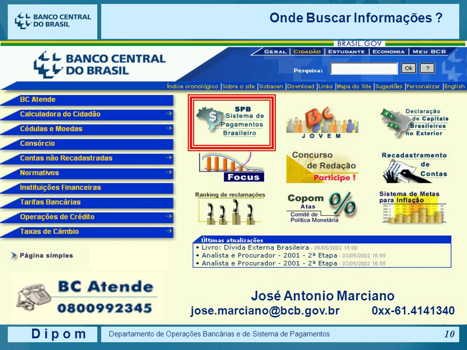 jose.marciano@bcb.gov.br 0xx-61.4141340